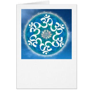 Om cirklar snowflaken hälsningskort