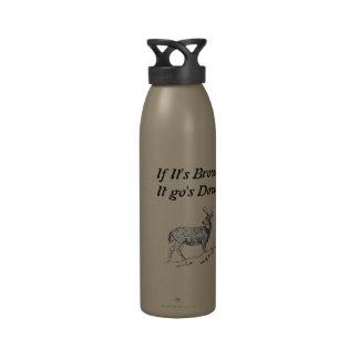 Om det är bruntet det gick besegrar återanvändningsbar vattenflaskor