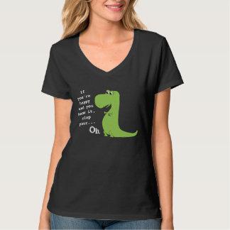 Om du är lycklig, applådera den roliga T skjortan T Shirts