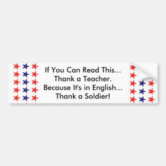 Om du kan läsa denna, tacka en lärare bildekal