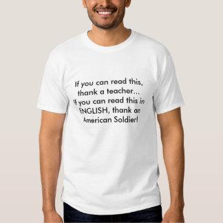 Om du kan läsa denna, tacka en lärare… om dig… tshirts