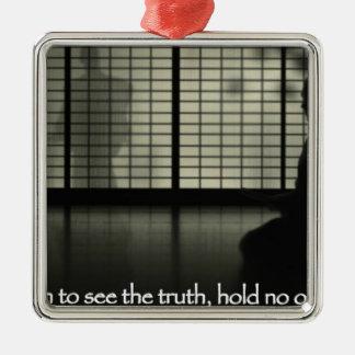 om du önskar att se sanningshållen inga åsikter julgransprydnad metall