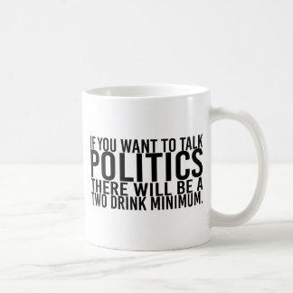Om du önskar att tala politik som ska där, var två kaffemugg