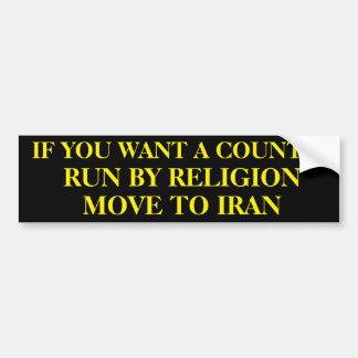 Om du önskar en landspringa vid religionflyttning bildekal