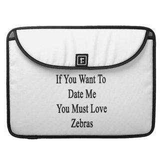 Om du önskar hitintills mig måste du älska zebror MacBook pro sleeves