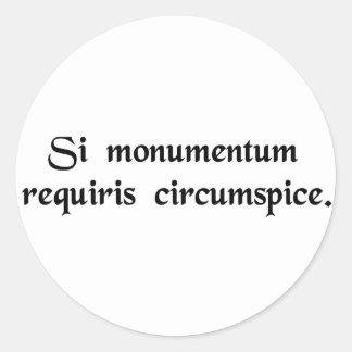 Om du sökanden en monument, ser omkring runt klistermärke
