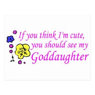 Om du tänka gullig Im ser min Goddaughter Vykort
