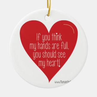 Om du tänker, är min händer full, dig bör se… julgransprydnad keramik