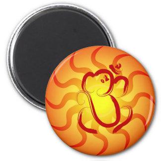 OM Ganesha - magnet Magnet Rund 5.7 Cm
