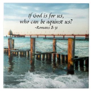 Om guden är för oss som kan vara mot oss kakelplatta