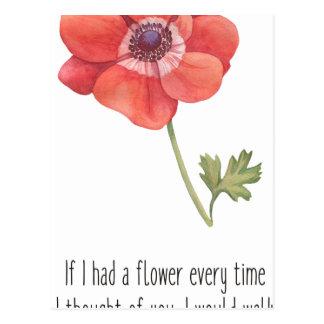 Om jag hade en blomma vykort