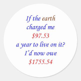 Om jorden laddade mig… 18 runt klistermärke