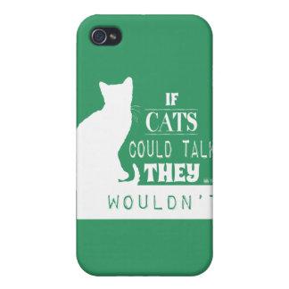 Om katter kunde tala dem skulle inte - allt färgar iPhone 4 skydd