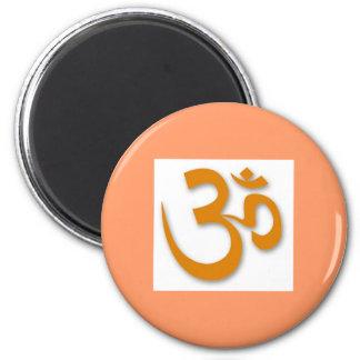 Om-lager för Yoga Magnet Rund 5.7 Cm