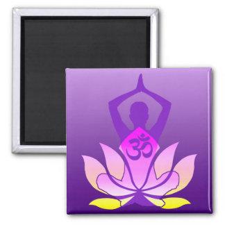 Om-lotusblommaYoga poserar Kylskåps Magneter