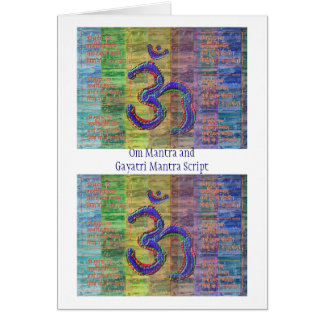 OM-Mantra Gayatri-Mantra tillsammans Hälsningskort