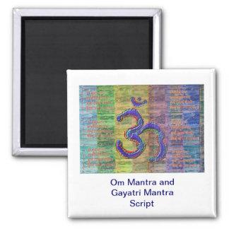 OM-Mantra Gayatri-Mantra tillsammans Magneter