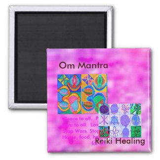 Om-Mantra n 12 Reiki som läker tecken för alla Magneter För Kylskåp