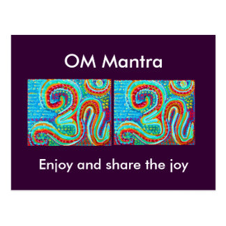 Om-Mantra Om108 Vykort
