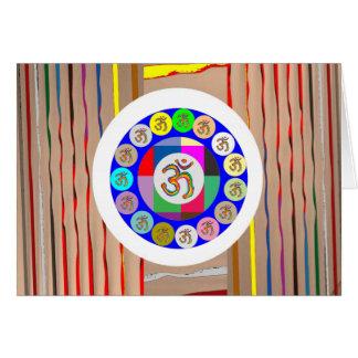 Om-MANTRAguld: RamsaYogameditation Hälsningskort