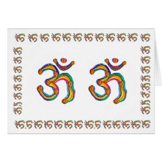 Om-Mantramynt - andlig varar besvärad och Soul Hälsningskort