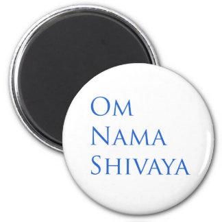 Om Nama Shivaya Magnet Rund 5.7 Cm