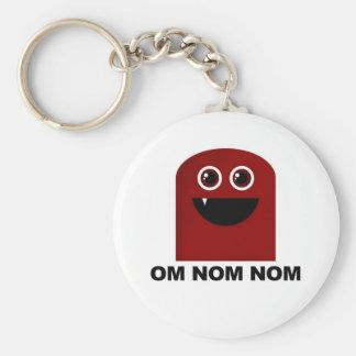 Om Nom Nom Cutie Rund Nyckelring
