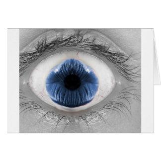 Om-Öga blått Hälsningskort