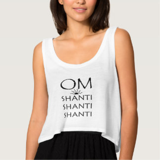 OM-Shanti/Yoga Tank Top Med Flowy Crop