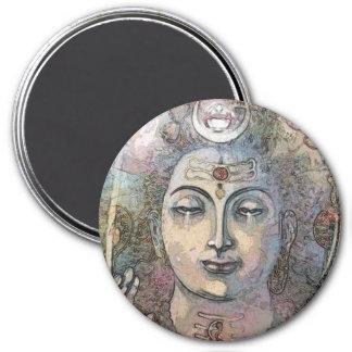 Om Shiva Shankara Magnet Rund 7.6 Cm