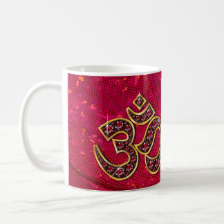 """Om-symbol med """"den Ruby"""" stenkoppen Kaffemugg"""