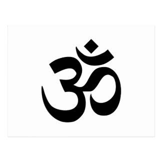 Om-symbol Vykort