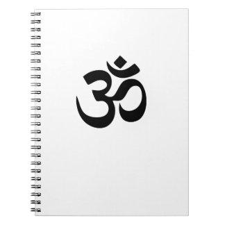 Om-Yoga Anteckningsbok Med Spiral