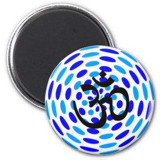 Om-Yoga - kylmagneter Magnet Rund 5.7 Cm