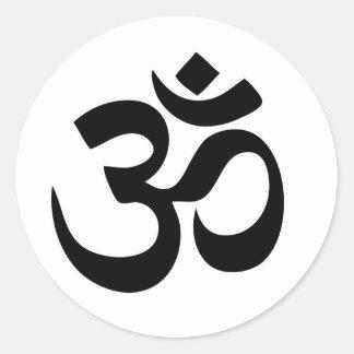 Om-Yoga Runt Klistermärke