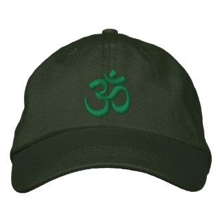 Om-YogaChakra grönt eller skräddarsy det broderi Broderad Keps