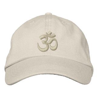 Om-YogaChakra skräddarsy den beige beigen eller Broderad Keps