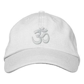 Om-YogaChakra vit eller skräddarsy det broderi Broderad Keps