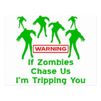 Om Zombies jagar oss I-förmiddagen som snubblar Vykort