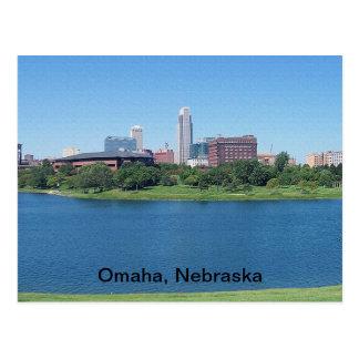 Omaha Nebraska horisont på kanfas Vykort