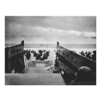 Omaha strand, Normandy, D-Dag 1944 Poster