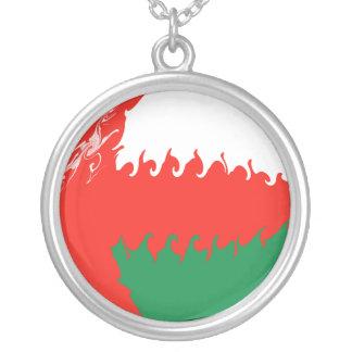 Oman Gnarly flagga Halsband Med Rund Hängsmycke