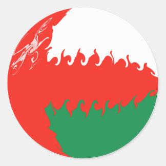 Oman Gnarly flagga Runt Klistermärke