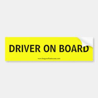 """""""Ombord: Chaufför"""" bildekal"""