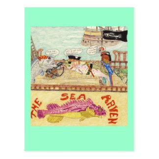 Ombord det korpsvarta havet vykort