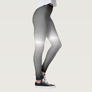 Ombre för grått för silverrävlag pastell leggings