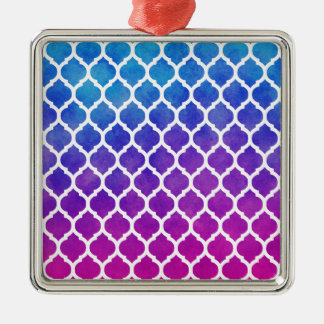 Ombre för rosa lilablått marockanskt galler julgransprydnad metall