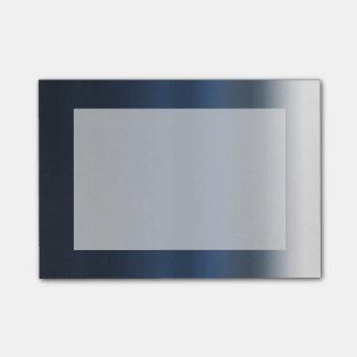 Ombre för vattenfärg för blått grått färgade dopp post-it note