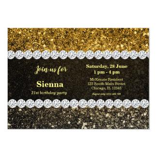Ombre glitter som sparkling 12,7 x 17,8 cm inbjudningskort