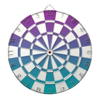 Ombre purpurfärgad kricka och vit darttavla